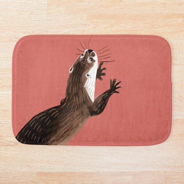 Totem otter  (Living coral) Alfombra de baño