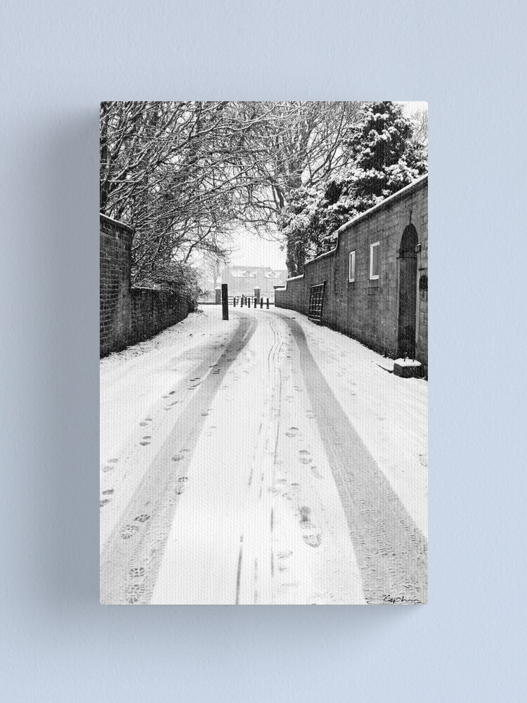 Alternate view of Tracks in the Snow Canvas Print