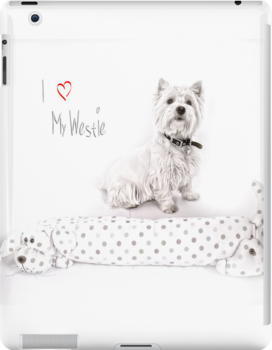 """Pet Pad Collection  """"I Love My Westie"""" by Love Through The Lens"""