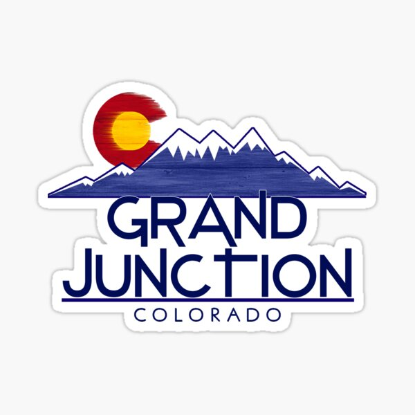 Grand Junction Colorado wood mountains Sticker
