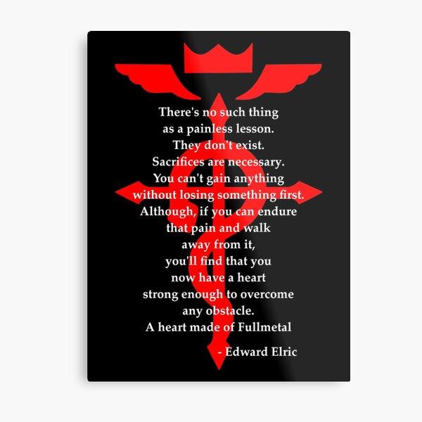 Fullmetal Heart Red Metal Print