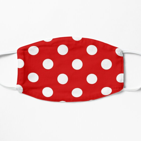 Red and White polka dots | Halloween Outfit Flat Mask