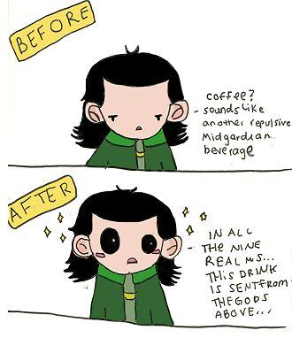 Loki and Coffee by TheLokilizer