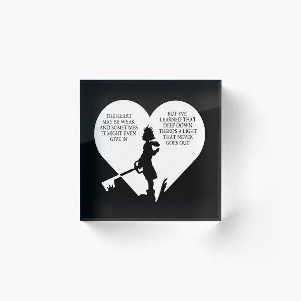 Kingdom hearts sora quote Acrylic Block