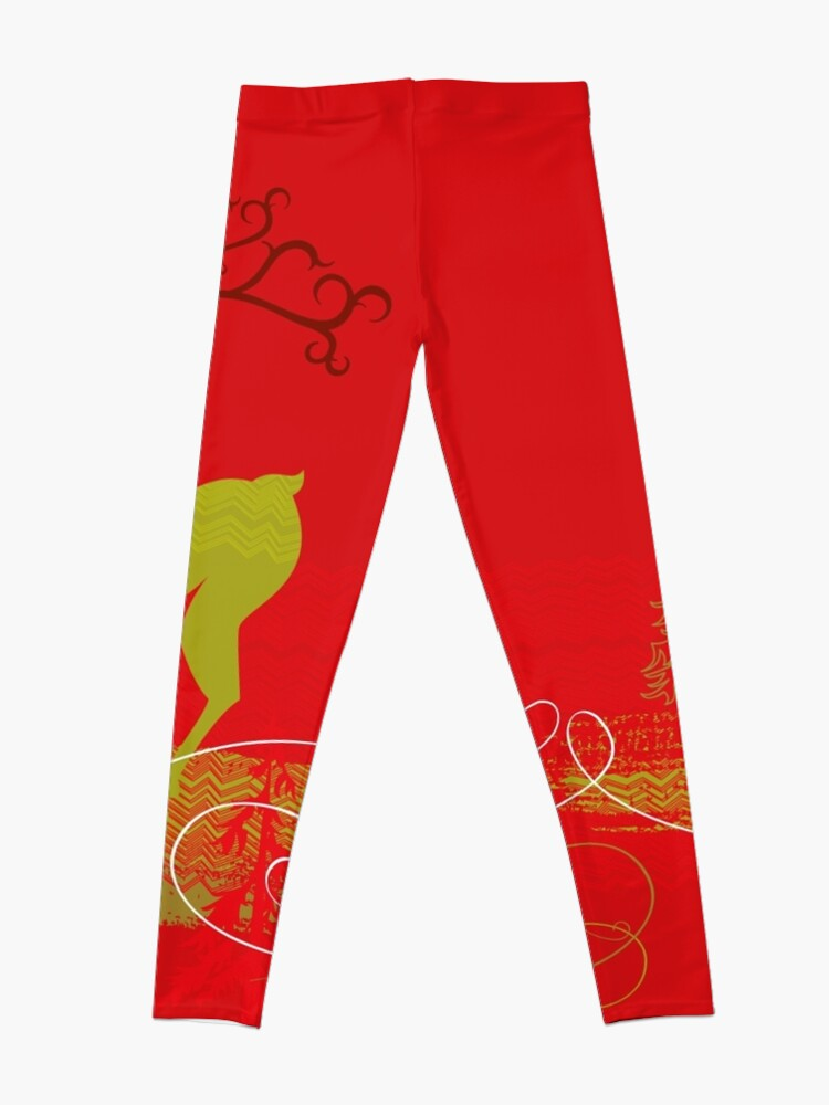 Alternate view of Elegance Couple Deer Leggings