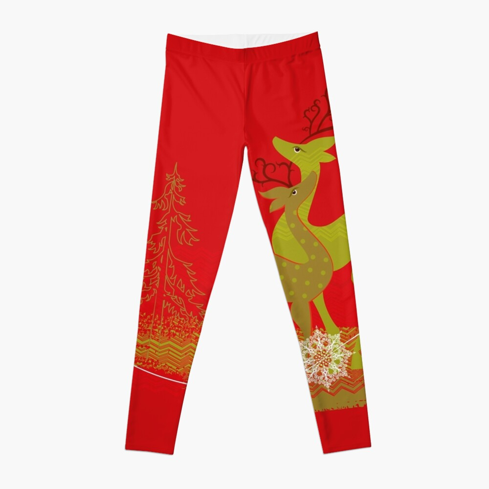 Elegance Couple Deer Leggings