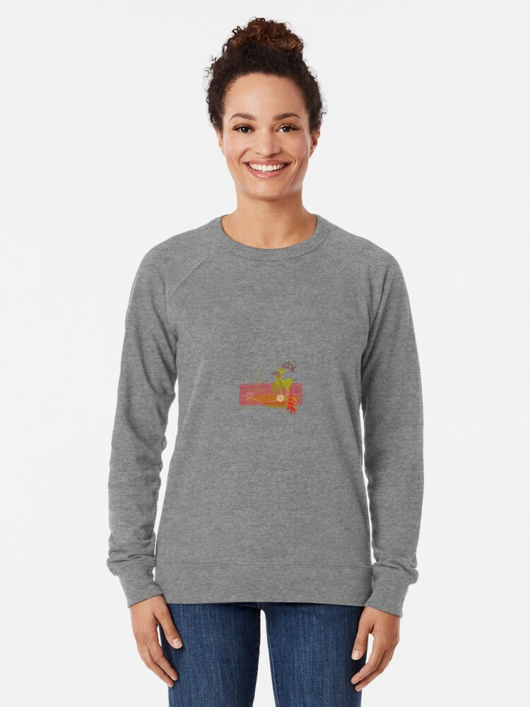 Alternate view of Elegance Couple Deer Lightweight Sweatshirt