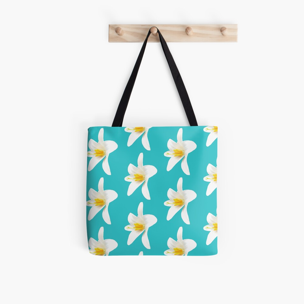 Isolated white lily Tote Bag