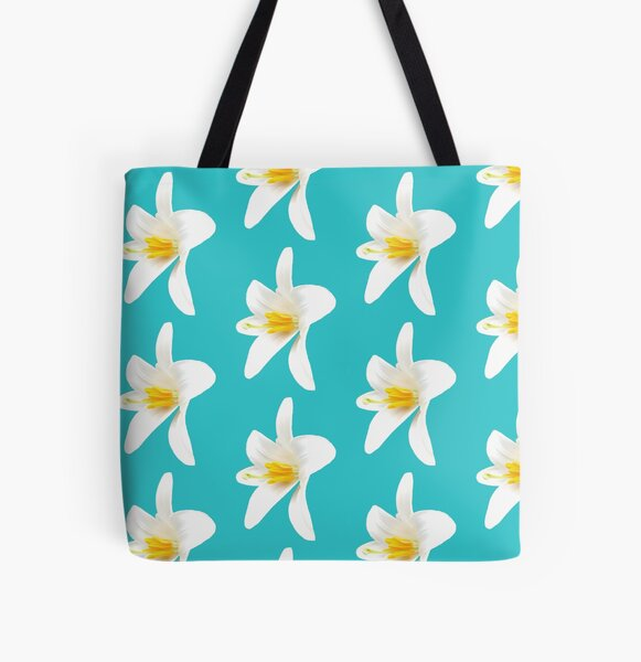 Isolated white lily All Over Print Tote Bag