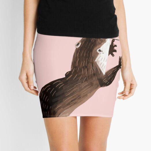 Totem Amblonyx otter  (pink) Mini Skirt