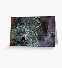 Bullet Hole Landscape Abstract Greeting Card