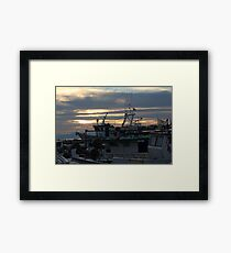 boat chaos Framed Print