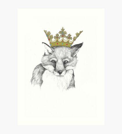 Crowned Fox Art Print