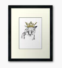 Crowned Fox Framed Print