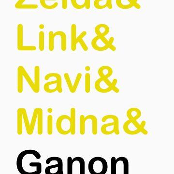 Zelda & Link & Navi & Ganon by rmmoon3