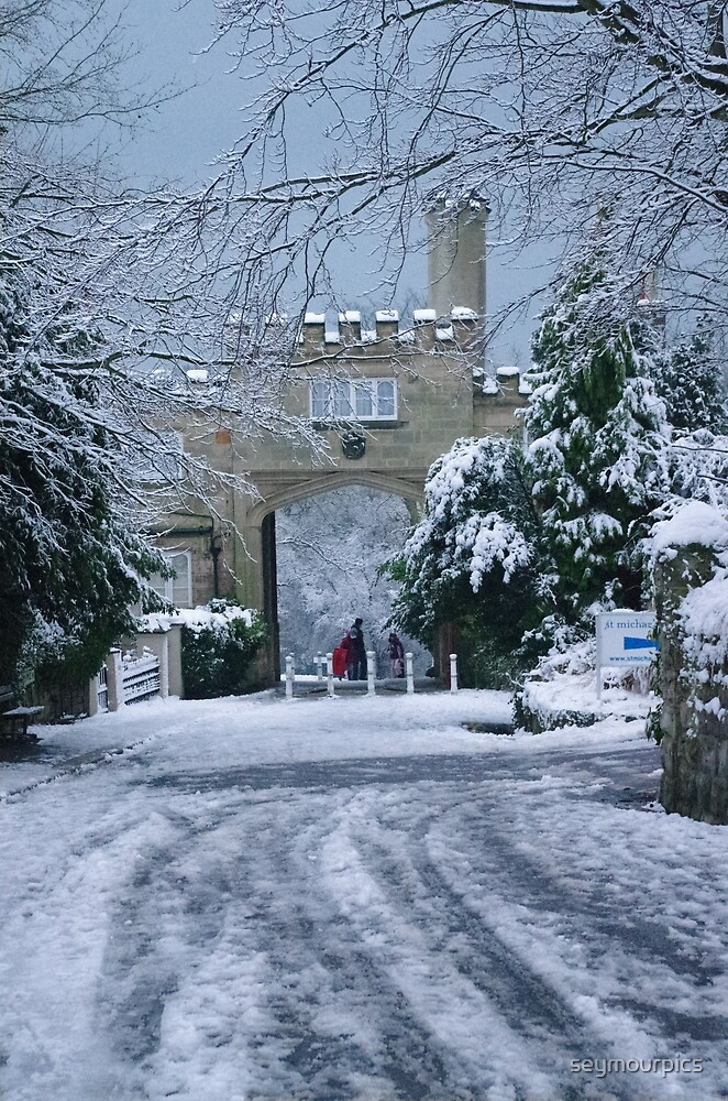 North Lodge, Maze Hill in Snow by seymourpics