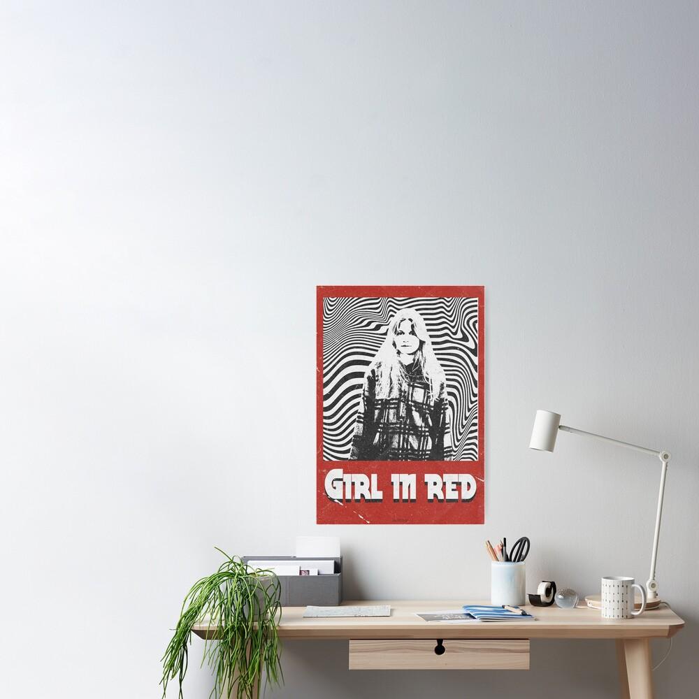 Girl in red | Retro Poster