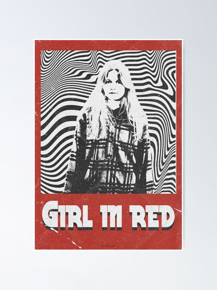 Alternate view of Girl in red | Retro Poster
