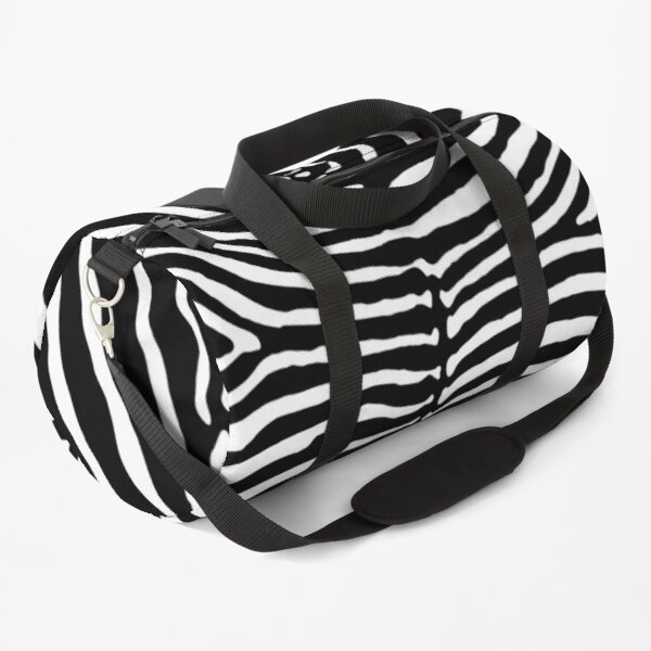 Zebra Stripes Print Skin Hide | Texture  Duffle Bag