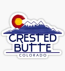 Crested Butte Colorado wood mountains Sticker