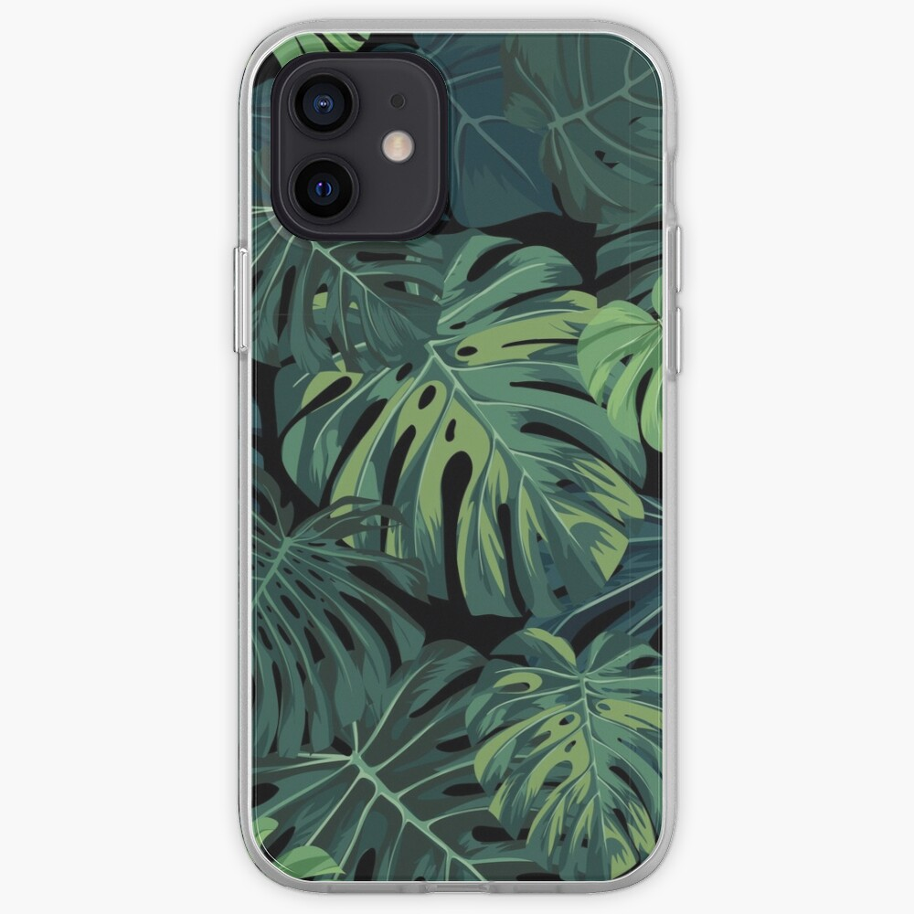Monstera leaves iPhone Case & Cover