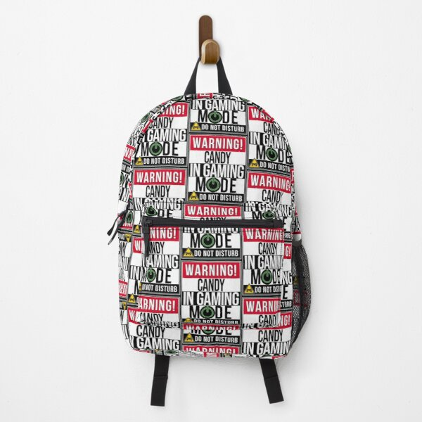 Drawstring Backpack Holiday Stick Candy Canes Rucksack