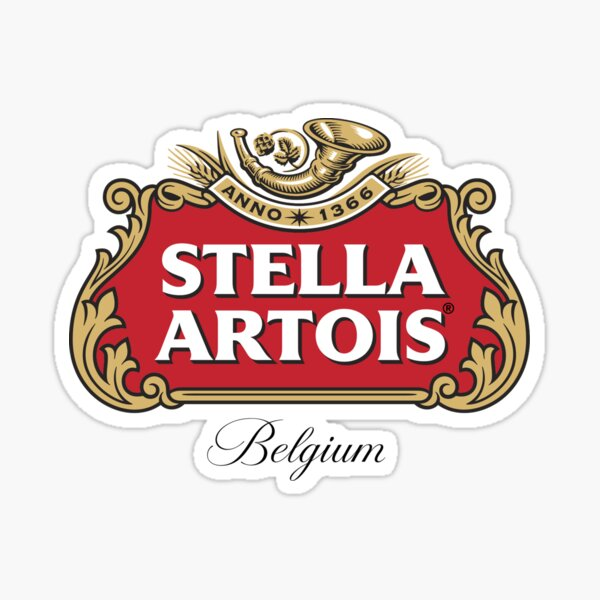 stella anno artois belgium Sticker