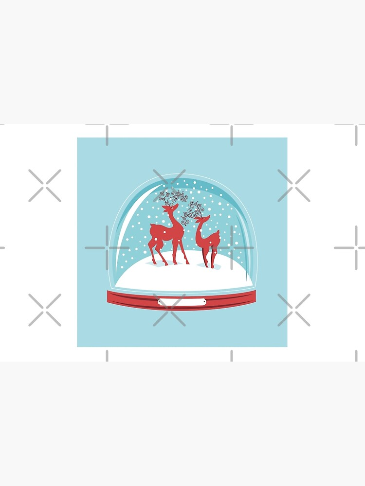 Snow-globe Couple Deer by rusanovska