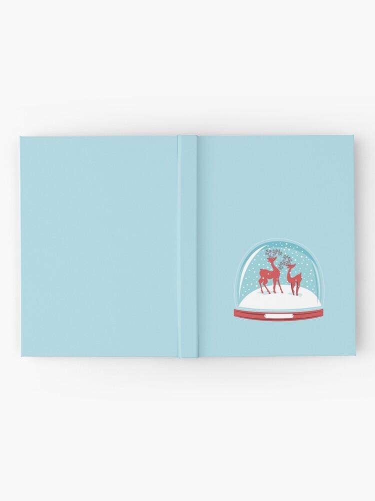 Alternate view of Snow-globe Couple Deer Hardcover Journal