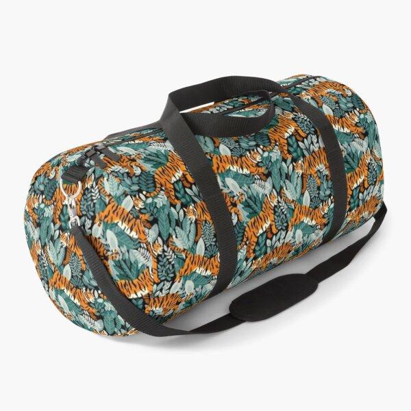 Bangel Tiger Teal Jungle  Duffle Bag