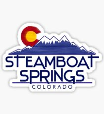 Steamboat Springs Colorado wood mountains Sticker