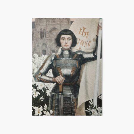 A 1903 engraving of Joan of Arc. Art Board Print