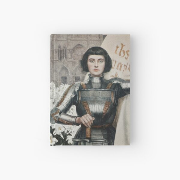 A 1903 engraving of Joan of Arc. Hardcover Journal