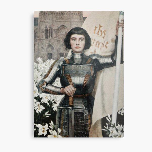 A 1903 engraving of Joan of Arc. Metal Print