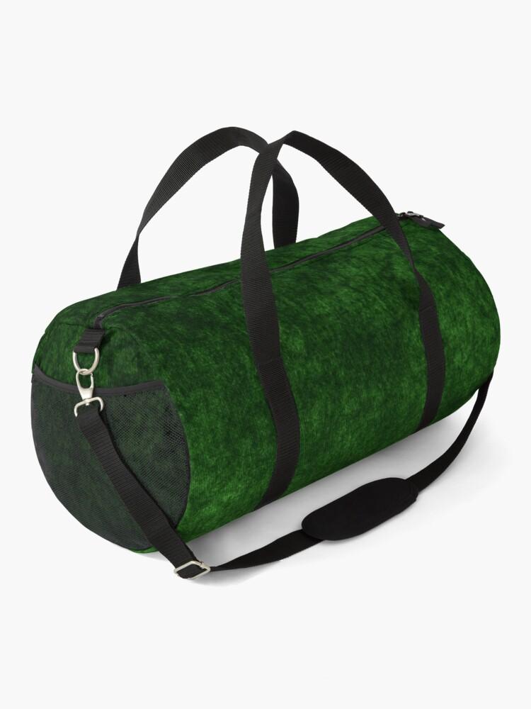Alternate view of Emerald Green Grass Velvet | Texture  Duffle Bag