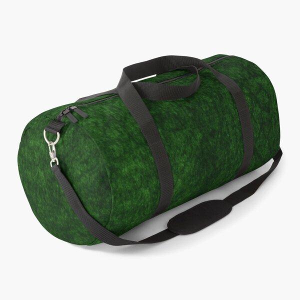 Emerald Green Grass Velvet | Texture  Duffle Bag