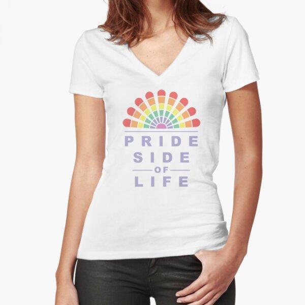 Pride Side of Life LGBTQ+ Design Tailliertes T-Shirt mit V-Ausschnitt
