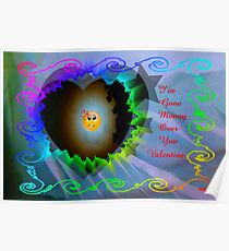 Moony Over You..valentine card Poster