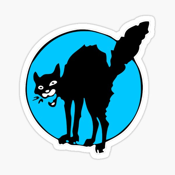 Gato Divertido Sabotaje Gato Negro Pegatina