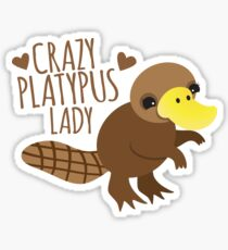 Crazy Platypus lady Sticker
