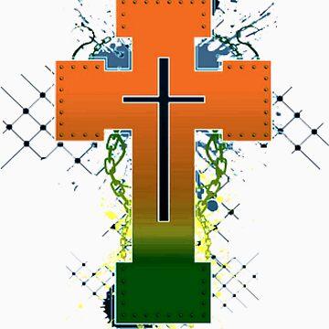 Cross Symbol T-Shirt by Emporium