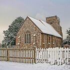 St Mary Burham In The Snow by Dave Godden