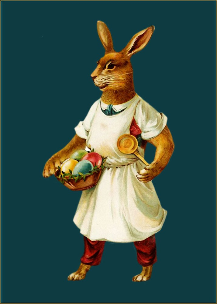Easter Greetings-Bunny Chef by Yesteryears