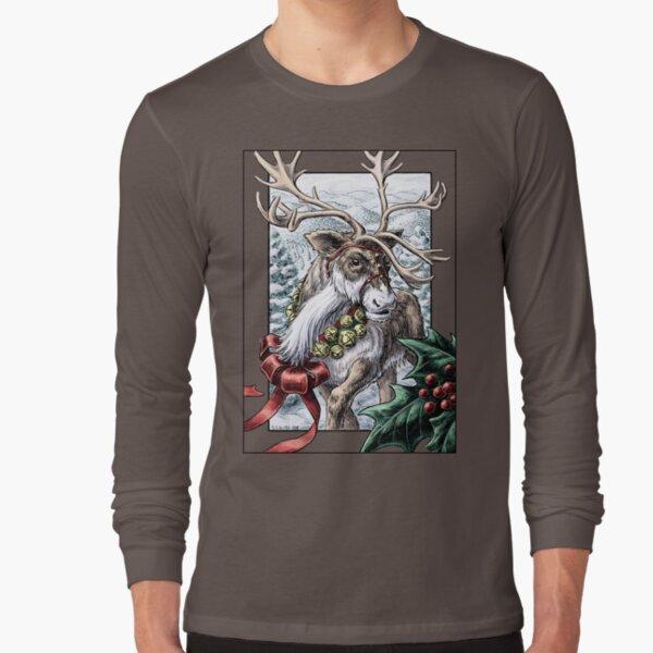 Jingle Bells Holiday Reindeer Long Sleeve T-Shirt