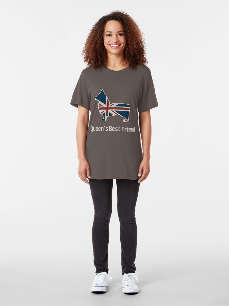 Alternate view of Queen's Corgi Slim Fit T-Shirt