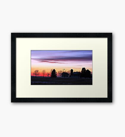 Rainbow Farm Framed Print