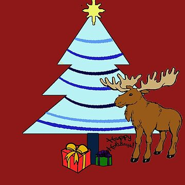 Holiday Moose by abigailnicole04