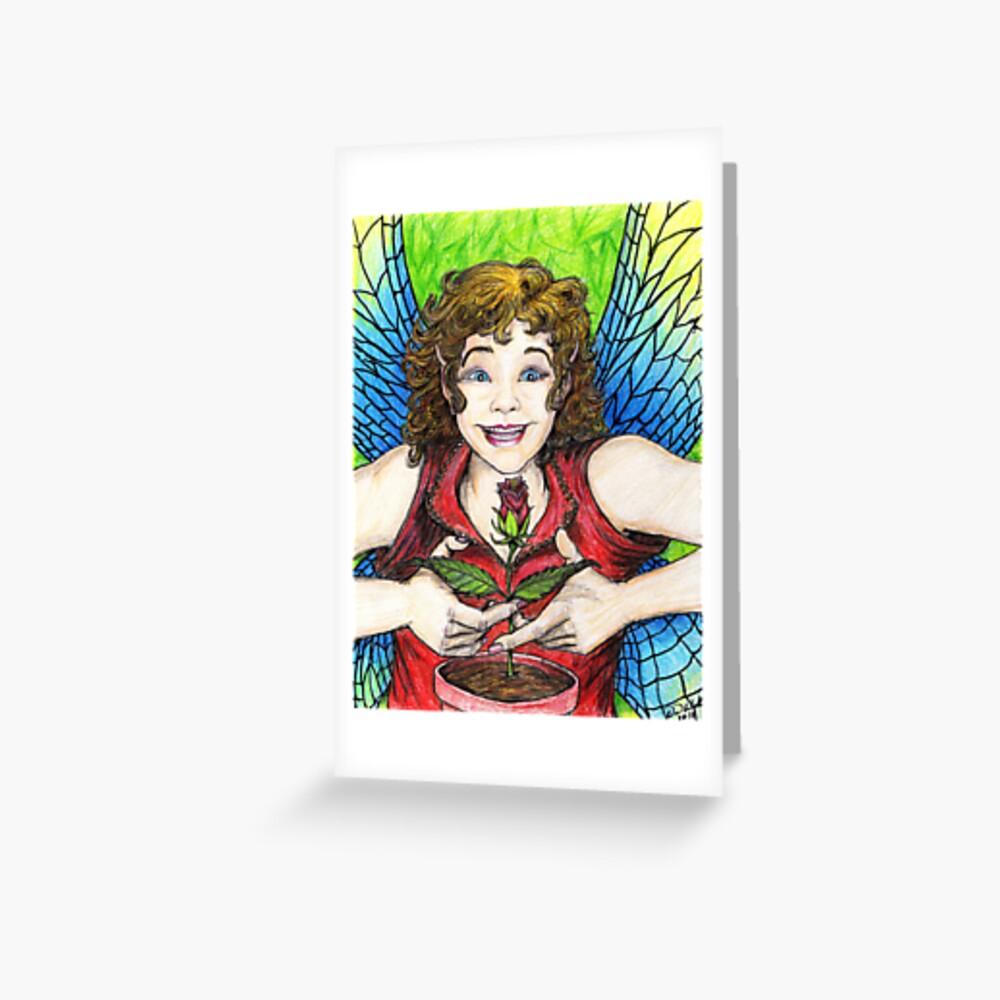 Rose Fairy Greeting Card