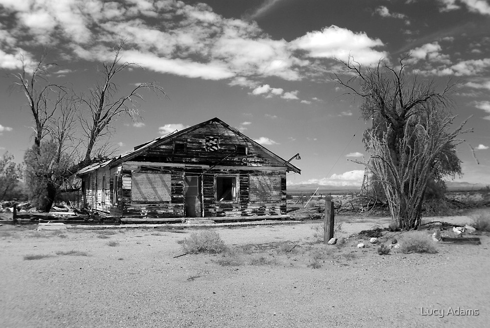 Deserted - Black & White by Lucy Adams