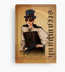 Steampunk Lady Metal Print